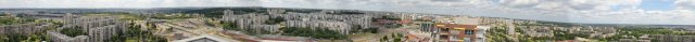 Panoraminė foto nuo 4'ojo namo stogo.
