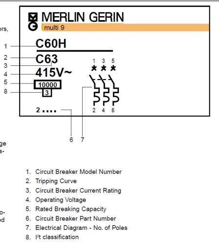 Štai toks yra Merlin Gerin žymėjimas, bet tai yra standartas - taip ar labai panašiai turėtų būti žymimi visi išjungėjai.
