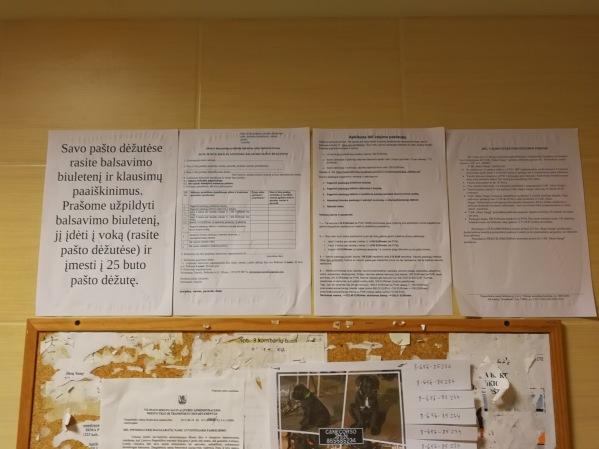 Balsavimo biuletenis ir aiškinamieji raštai 6 namui.
